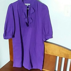 See by Chloe purple shirt dress